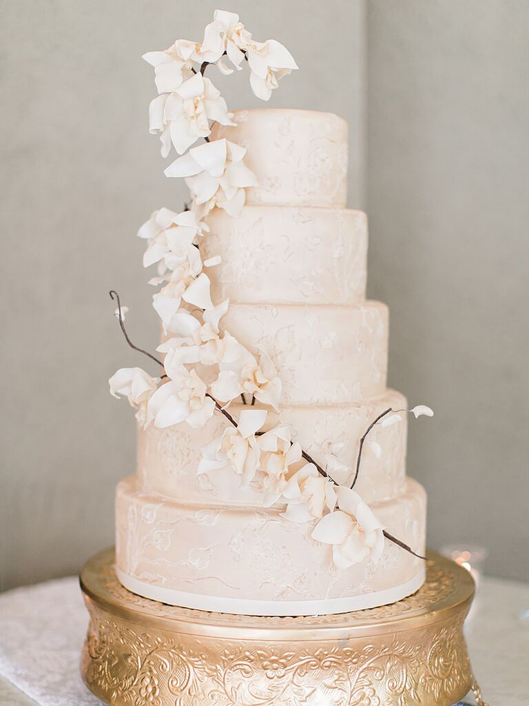 elegant wedding cakes with flowers wedding cake with flowers midway media 13987