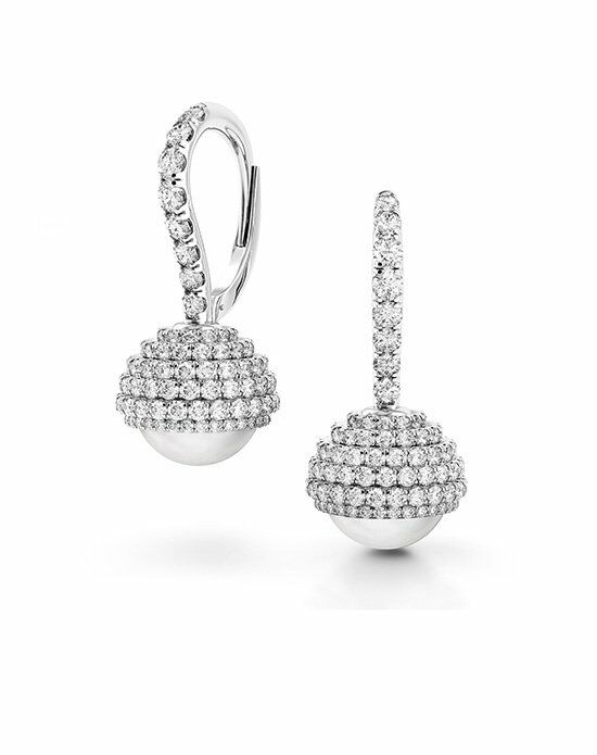 Platinum Wedding Day Jewelry Must-Haves Danhov Pearl and Diamond Earrings Wedding Jewelry photo