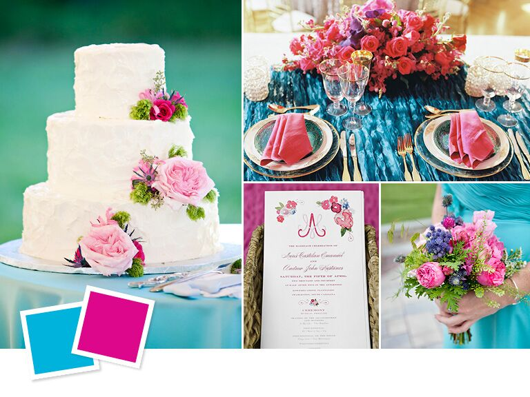 4 Hot Summer Wedding Color Combos