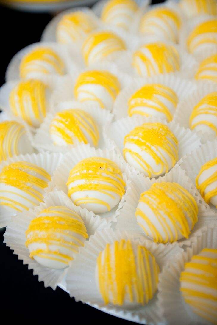 Yellow and White Cake Pops