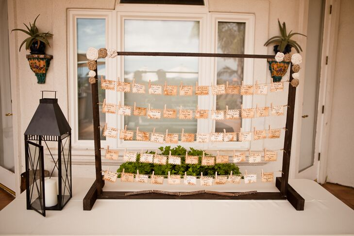 Frame With Hanging Escort Cards