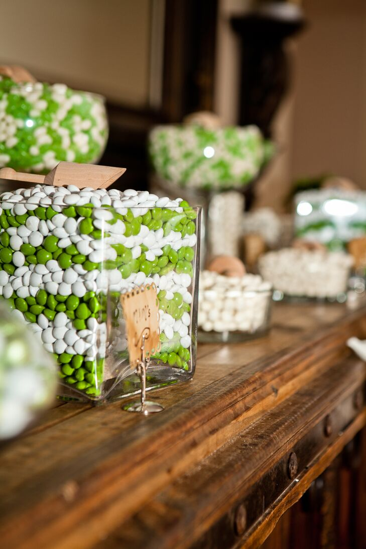 White and Green Candy Bar