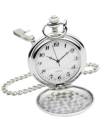 His Look: Silver Pocket Watch