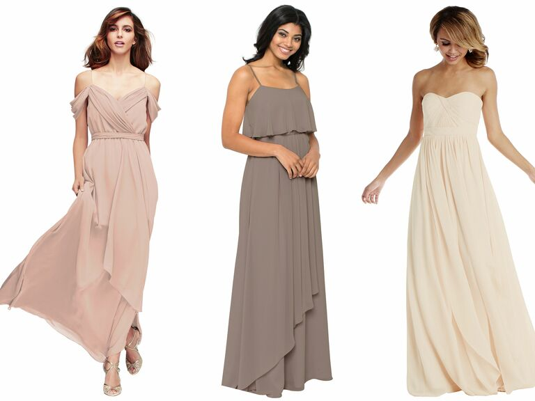 The Knot Vow To Be Chic Neutral Boho Bridesmaids Dresses