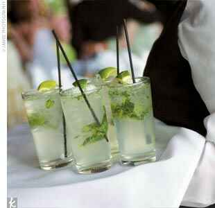 mojito with lime and muddled mint