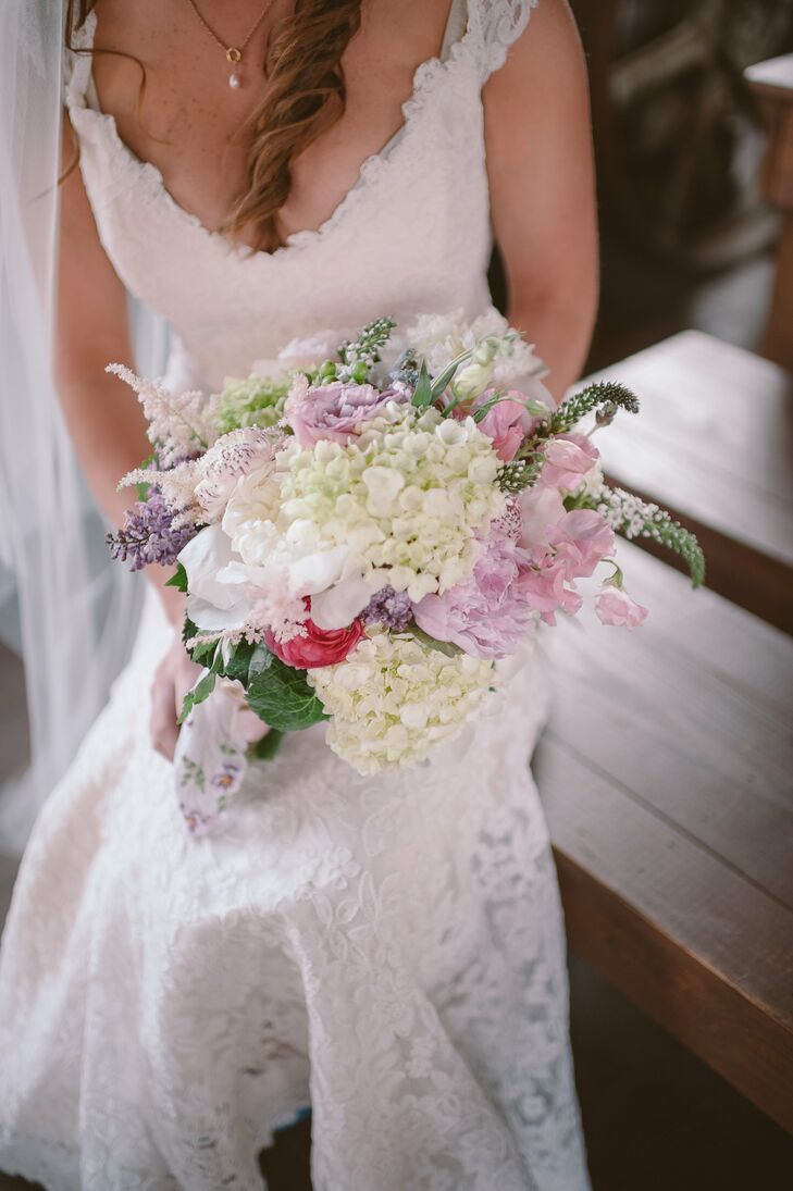 Soft, Romantic Hydrangea Bridal Bouquet