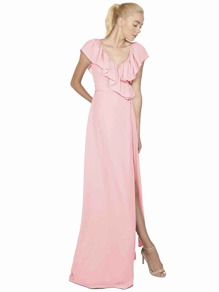 Joanna August Lolo long bridesmaid dress in Pretty in Pink