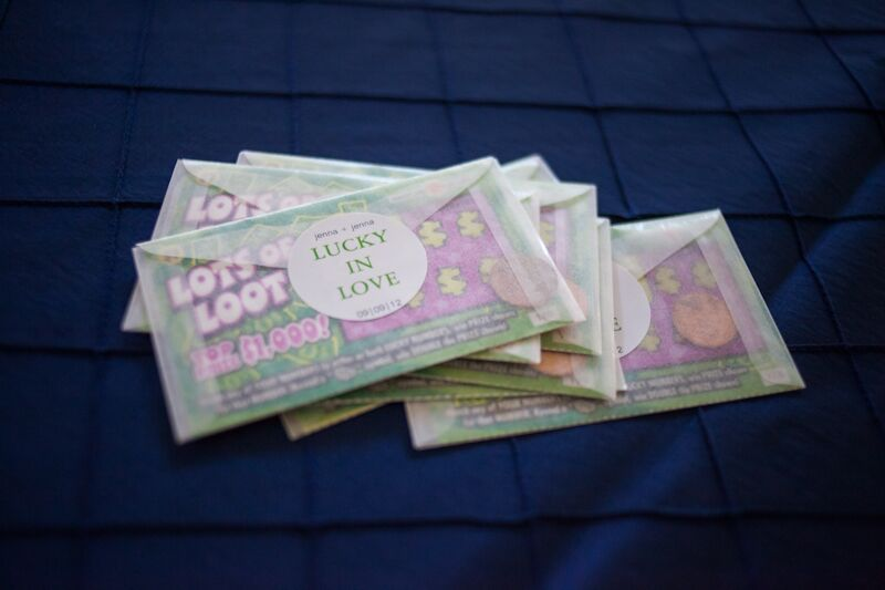 lottery ticket wedding favors