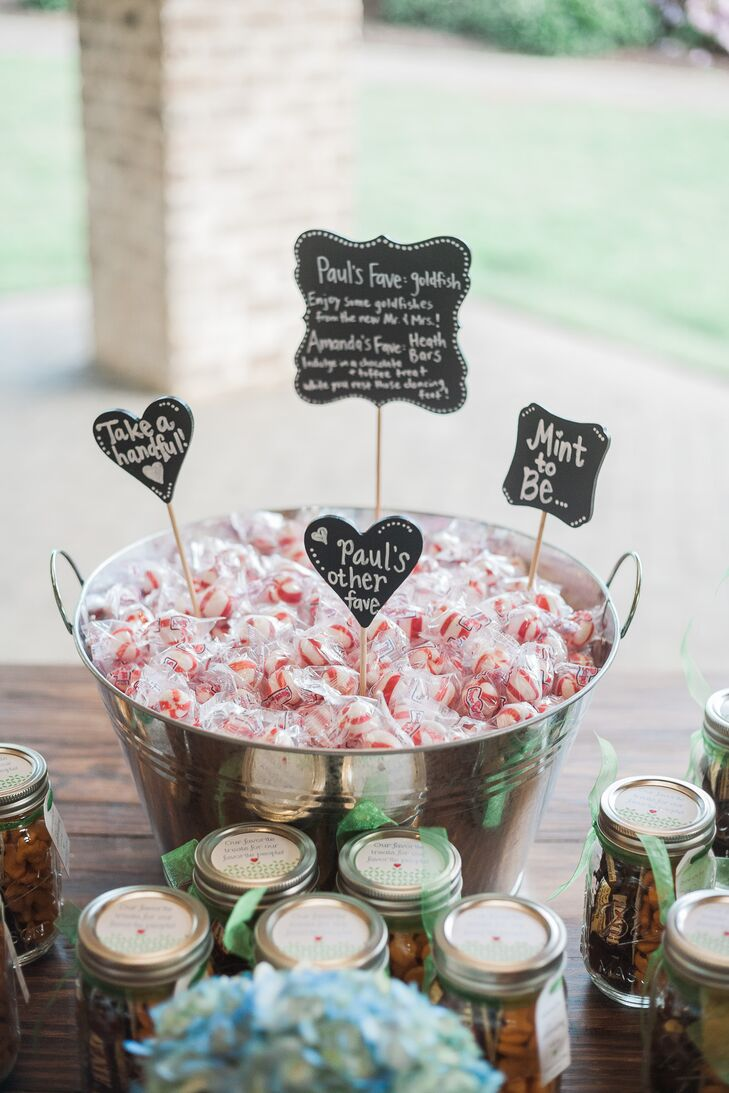 Mint Wedding Favors With Diy Chalkboard Signs