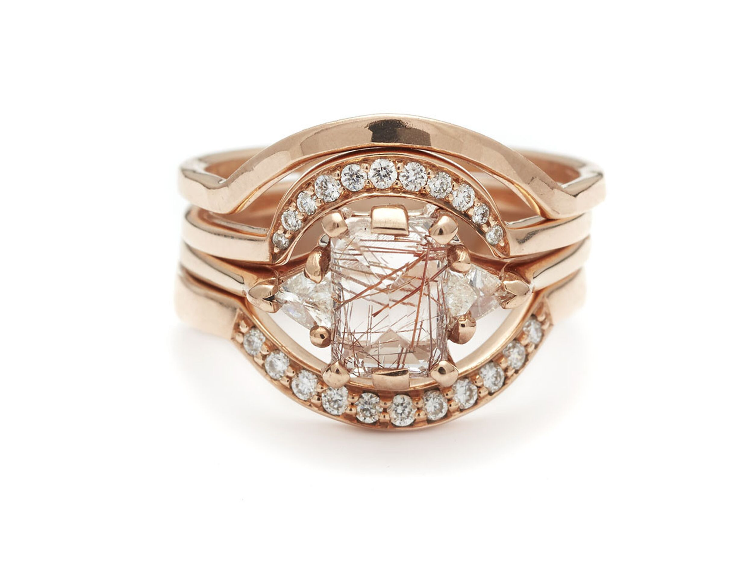 blush halo gold diamond of bypass engagement image sku round yellow with rings glow rose forevermark ellaura ring