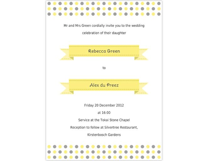Wedding Invitation Templates That Are Cute And Easy to Make – Wedding Invitations Template Word