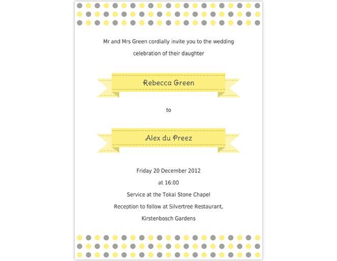 Stylized Laurels Printable Wedding Invitation Template