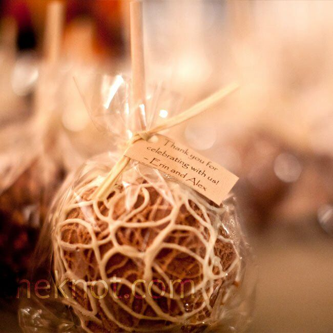 Candy apple favors for Candy apple wedding favors