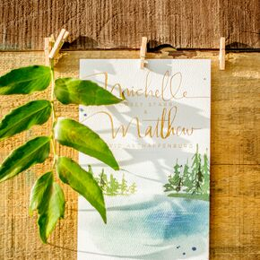 Hand Painted Programs With Maine Scenery