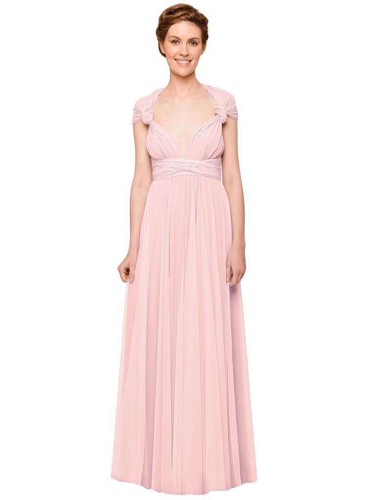 Pink bridesmaid dresses blush bridesmaid dresses to shop now two birds tulle ball gown in petal ombrellifo Images