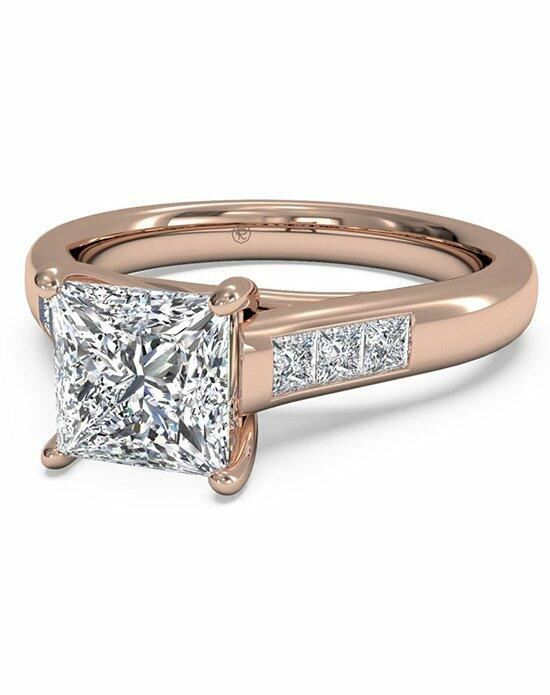 Ritani Princess Cut Solitaire Channel-Set Diamond Band Engagement Ring in 18kt Rose Gold (0.18 CTW) Engagement Ring photo