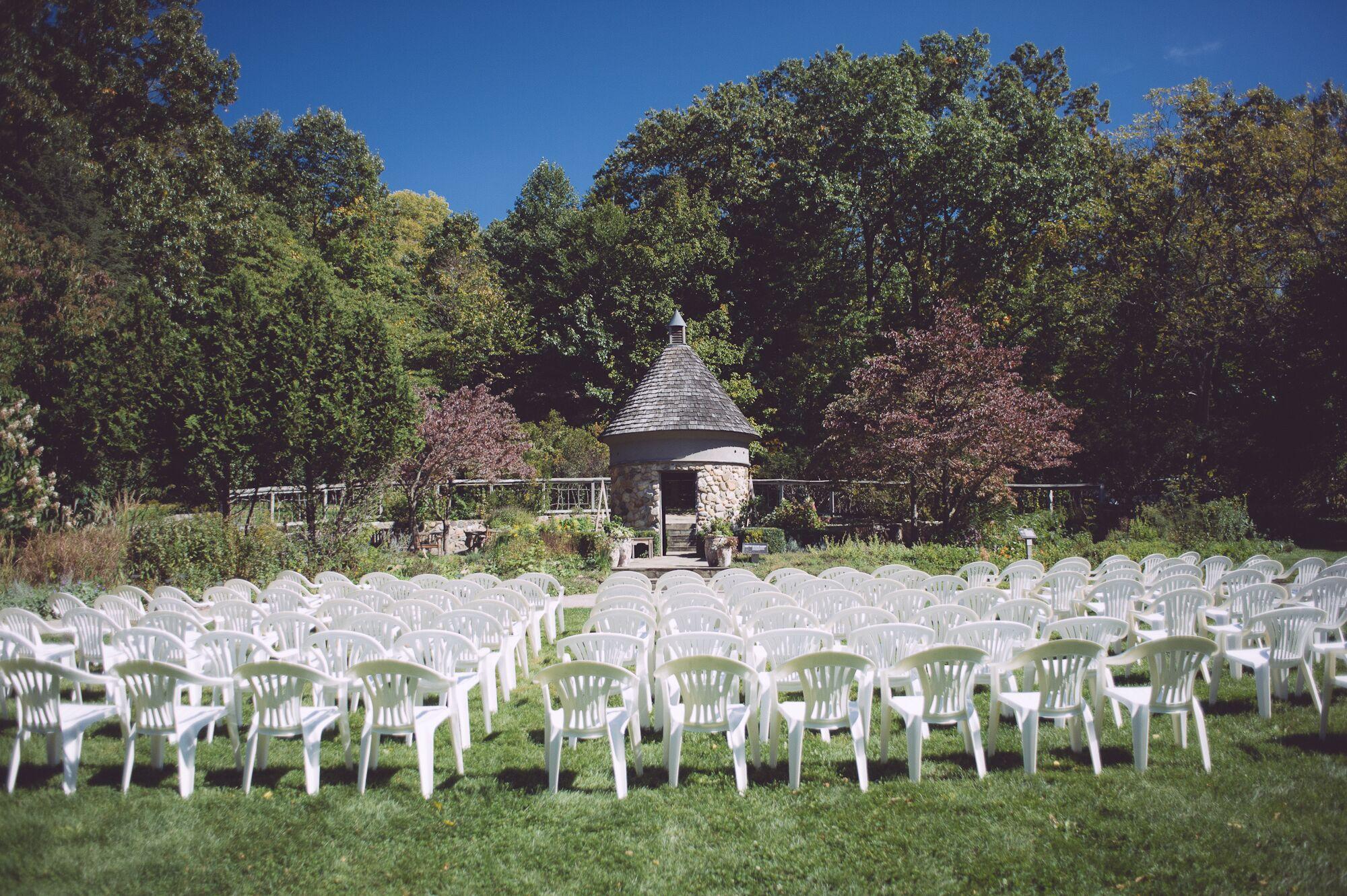 Wedding ceremony chair - Fernwood Botanical Gardens Wedding Ceremony