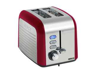 Red Nesco 2-slice toaster