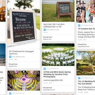 2016 Pinterest wedding trends