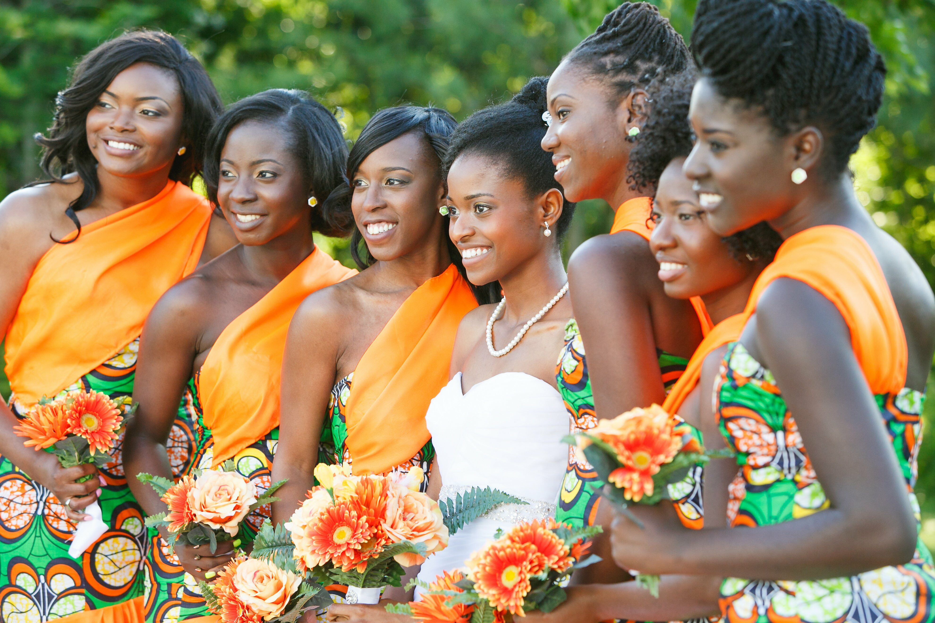 African Print Bridesmaid Dresses