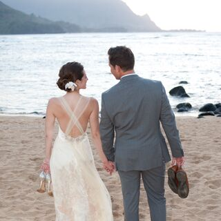 Real Beach Wedding Dresses