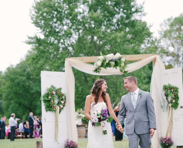 A Rustic-Chic Lavender Wedding at Maple Row Farm in Easton Connecticut & Abbey Tent u0026 Party Rentals - Fairfield CT