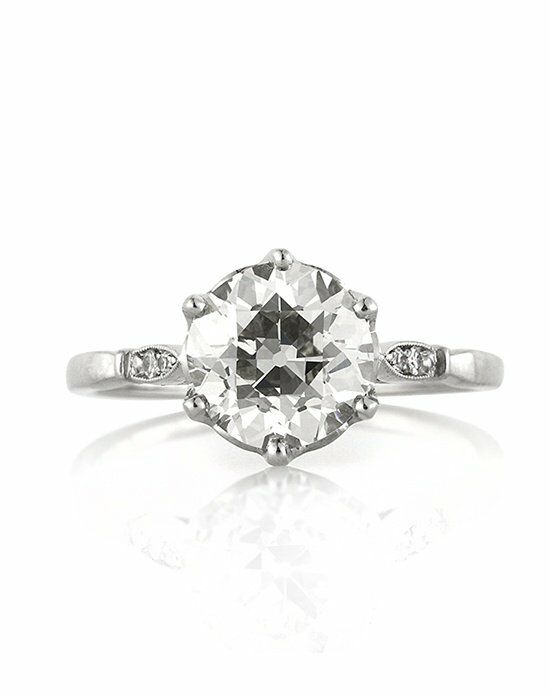 Mark Broumand 2.12ct Antique European Round Cut Diamond Engagement Anniversary Ring Engagement Ring photo