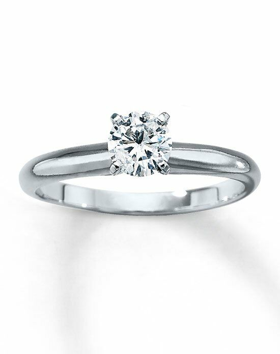 Kay Jewelers Diamond Solitaire Ring 1/2 ct Round 14K White Gold-150866604 Engagement Ring photo