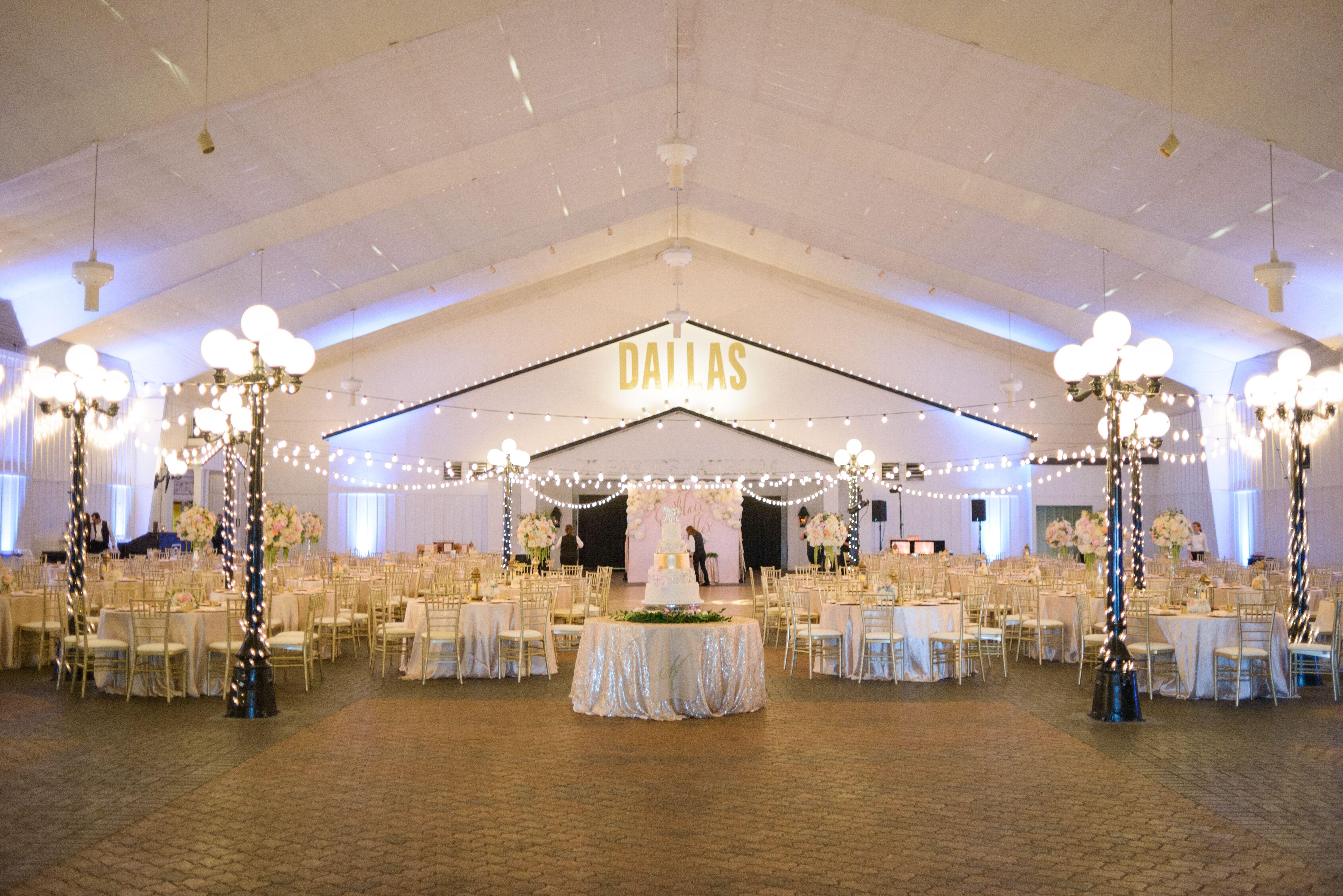 stringlit southfork ranch reception hall