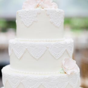 Vintage wedding cakes vintage fondant lace wedding cake junglespirit Choice Image