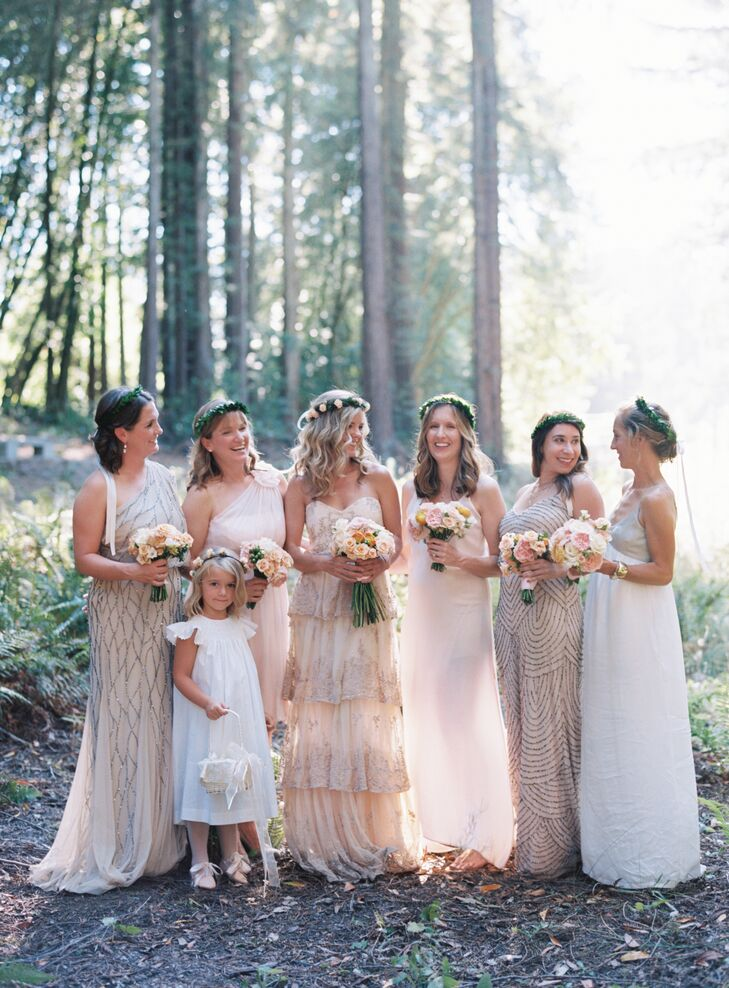 Formal Neutral Colored Bridesmaid Dresses