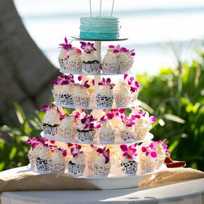 Blue Ombre Cake With Surfboard Topper