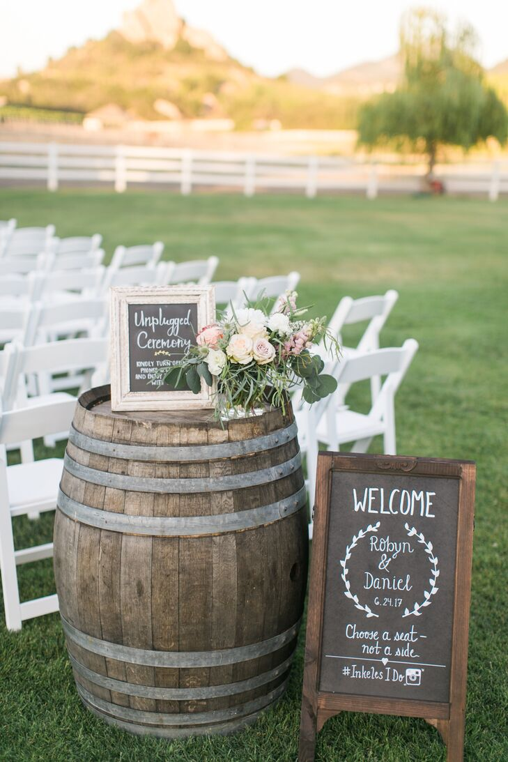 Chalkboard Ceremony Welcome Signs