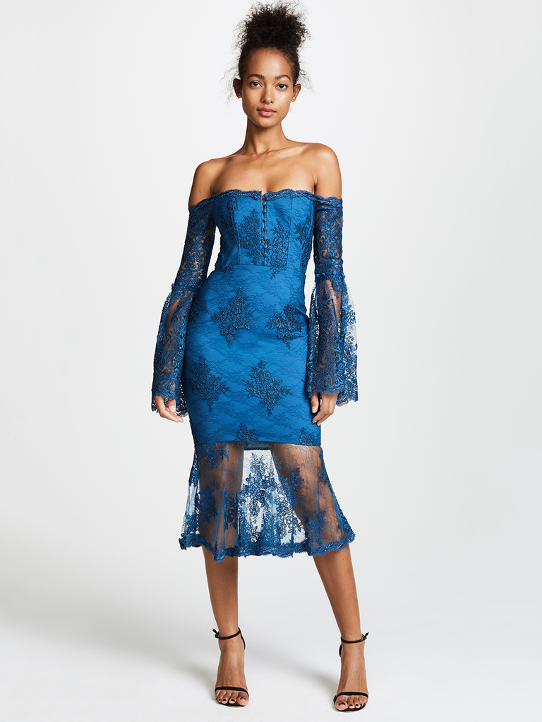 Want Something Sassy Yet Sweet To Wear Your Next Daytime Winter Wedding Gun For This Sexy Sheer Off The Shoulder Look