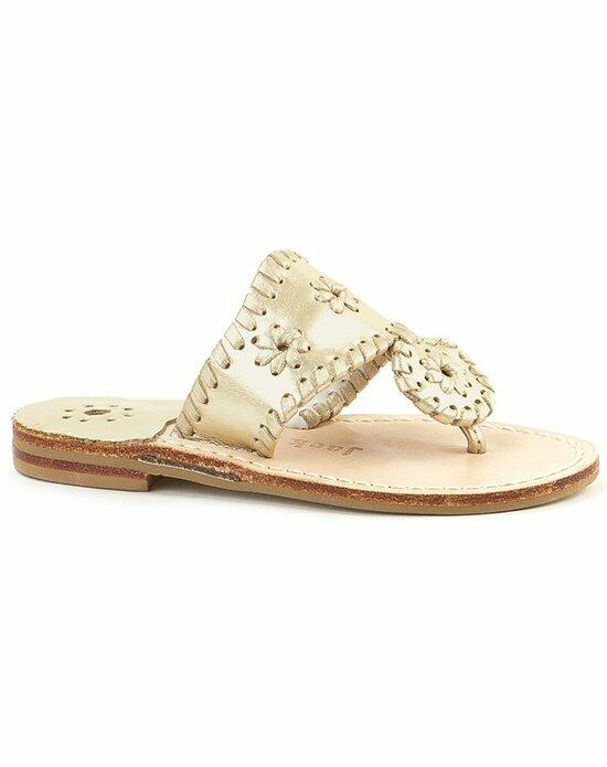 Jack Rogers Hamptons Miss Sandal-gold Wedding Shoes photo