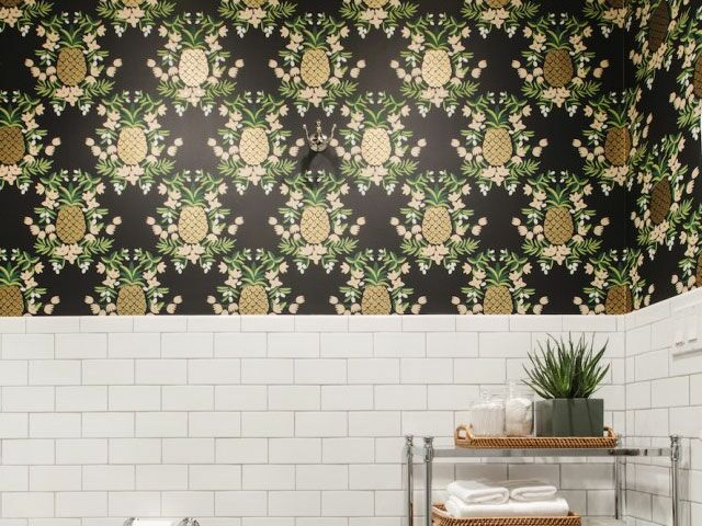 We're Pretty Much Obsessed With Wallpapered Bathrooms