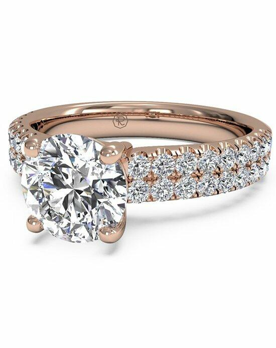 Ritani Round Cut Double French-Set Band Engagement Ring in 18kt Rose Gold (0.59 CTW) Engagement Ring photo