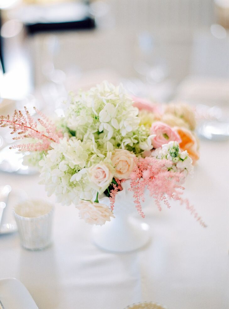 Small pastel floral centerpieces for Pastel colored flower arrangements