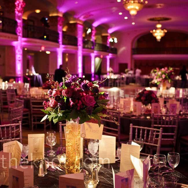 Weddings Florist Washington Dc: Purple Floral Centerpieces