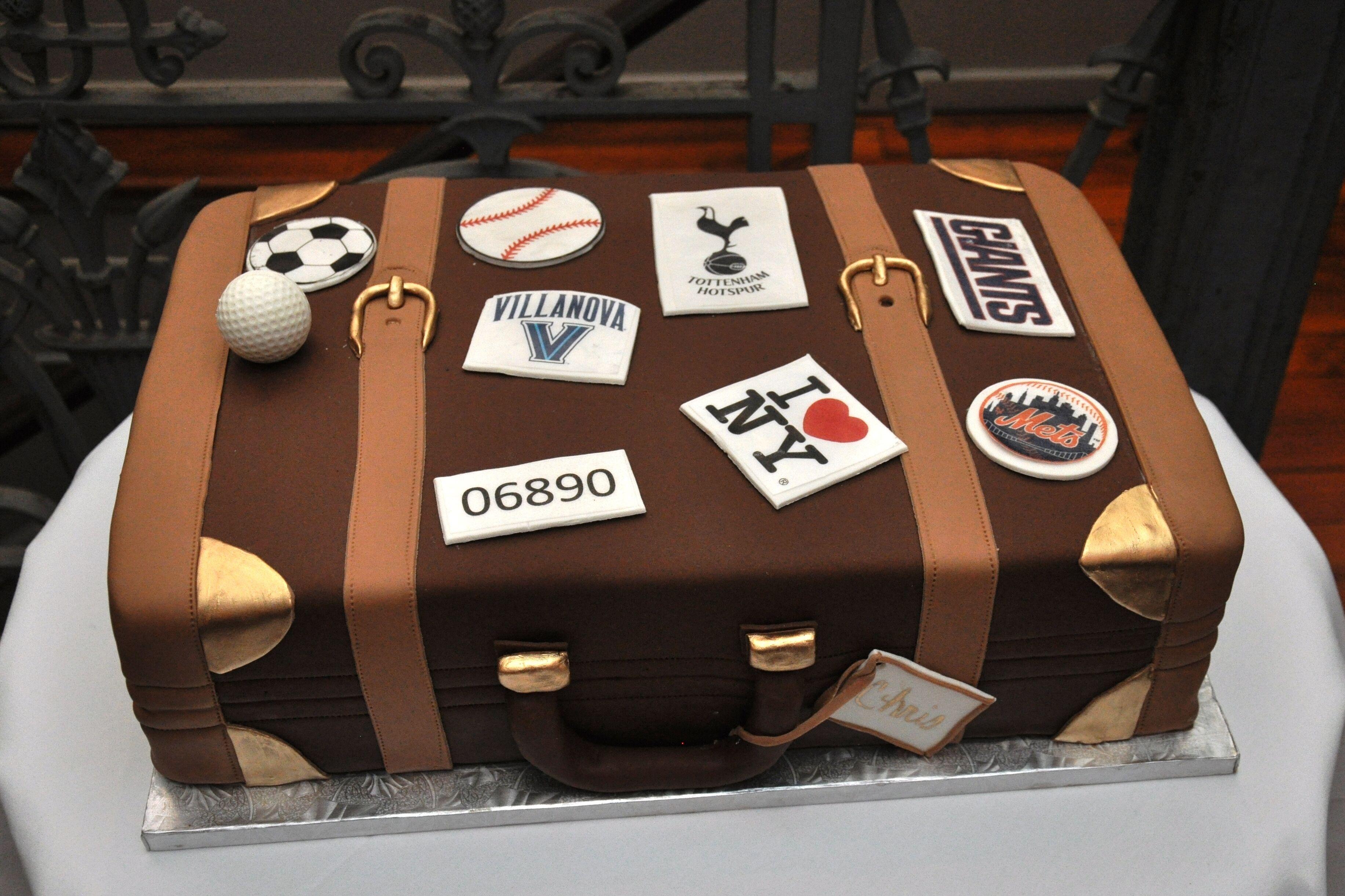 Travel Inspired Suitcase Groom S Cake