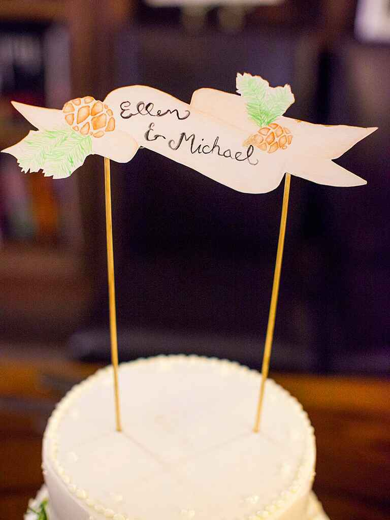 easy diy wedding cake toppers 15 awesome diy wedding cake topper ideas 13810