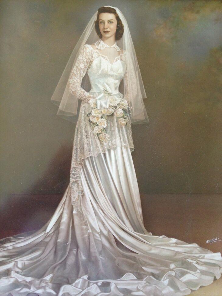Vintage 1950s Bridal Portrait