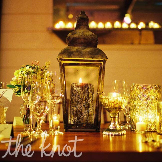 Rustic Candle Tablescapes