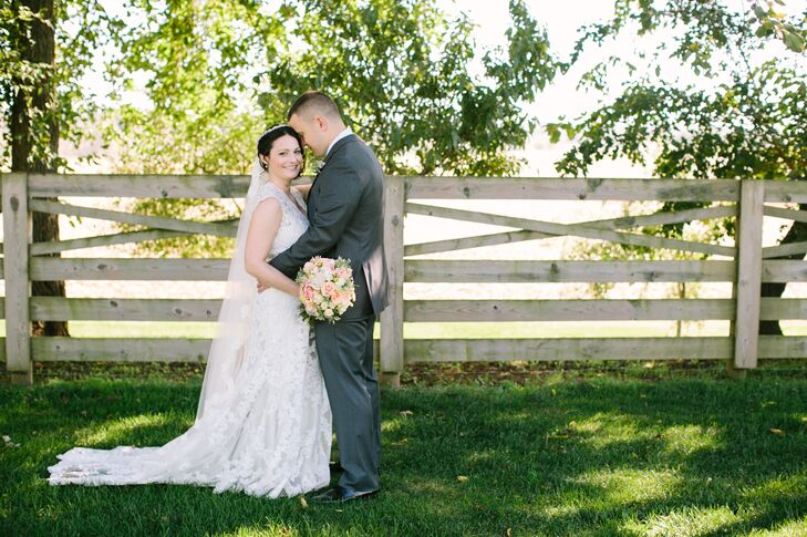 Kate McCarthy (30 and a maternity nurse) and Alan Szulwach (30 and a police officer) didn't want a typical fall wedding with a red, orange and brown c
