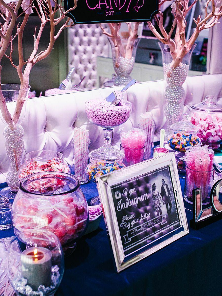 Wedding Sign Purple /& Silver Love Is Sweet Take A Treat Candy Buffet