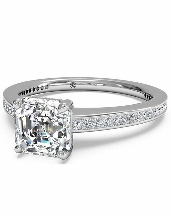Ritani Asscher Cut Diamond Micropave Band Engagement Ring in Platinum (0.20 CTW) Engagement Ring photo
