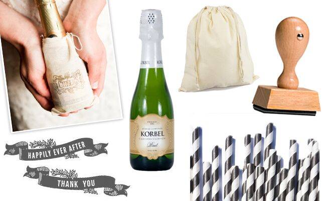 $4 Champagne Favor for the Formal Wedding