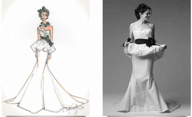 Wedding Gown Fashion Sketches