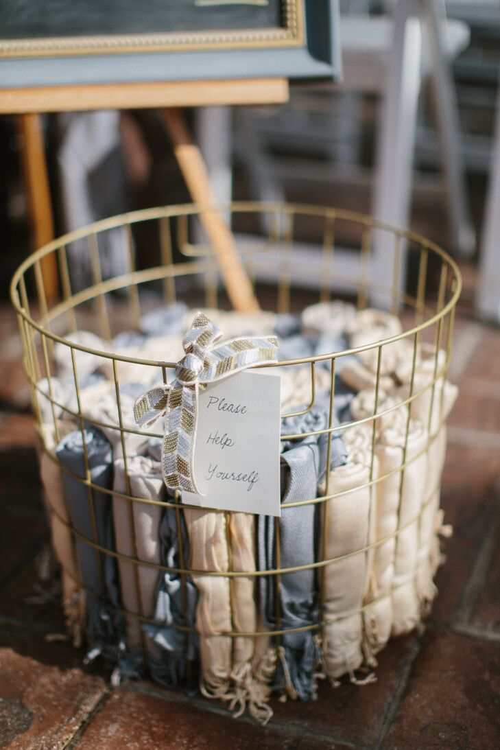Vintage Wire Baskets of Shawls