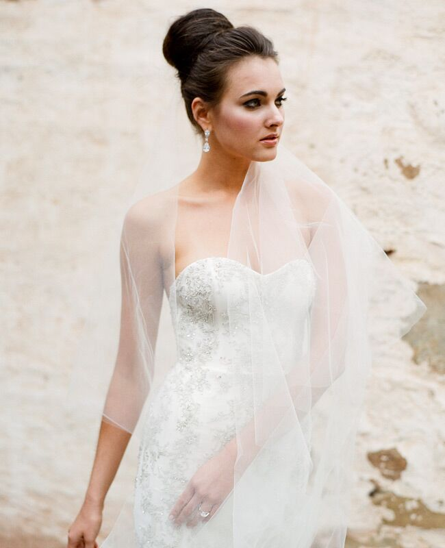 Kenneth Pool Wedding Gown With Twigs And Honey Veil Jose Villa Blog Theknot